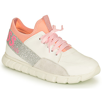 Shoes Girl Low top trainers Guess SCARLETT White / Pink