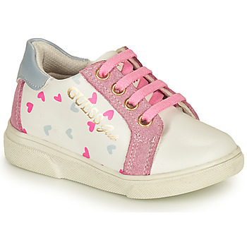 Shoes Girl Low top trainers Guess MILA White / Pink