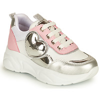 Shoes Girl Low top trainers Guess CLAIRE White / Silver