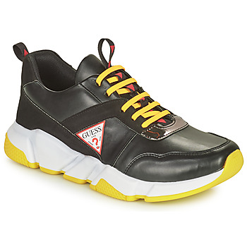 Shoes Boy Low top trainers Guess RICKY Black / White / Red