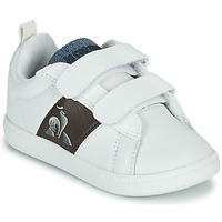 Shoes Children Low top trainers Le Coq Sportif COURTCLASSIC INF White / Brown