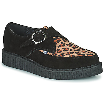 Shoes Derby Shoes TUK POINTED CREEPER MONK BUCKLE Black / Leopard