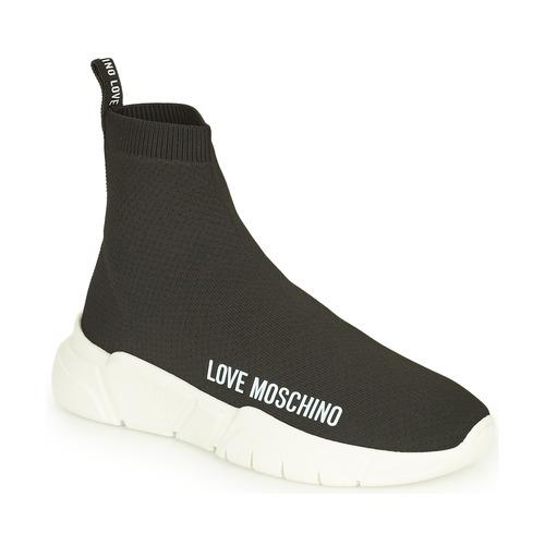 Shoes Women Hi top trainers Love Moschino JA15343G1D Black