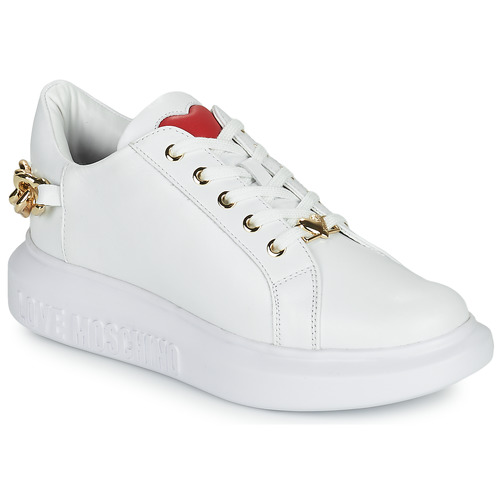 Shoes Women Low top trainers Love Moschino JA15144G1D White