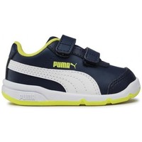 Shoes Children Low top trainers Puma Stepfleex 2 SL VE V Inf White, Navy blue