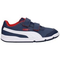Shoes Children Low top trainers Puma Stepfleex 2 SL VE V PS White, Navy blue