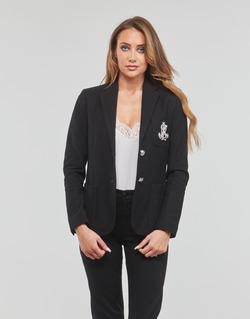 Clothing Women Jackets / Blazers Lauren Ralph Lauren ANFISA-LINED-JACKET Black