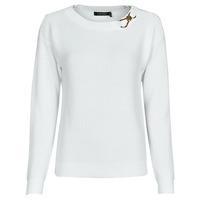 Clothing Women Jumpers Lauren Ralph Lauren YAMINAH-LONG SLEEVE-SWEATER White