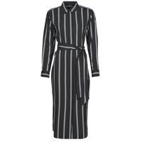 Clothing Women Long Dresses Lauren Ralph Lauren RYNETTA-LONG SLEEVE-CASUAL DRESS Black
