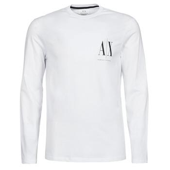 Clothing Men Long sleeved tee-shirts Armani Exchange 8NZTPL White