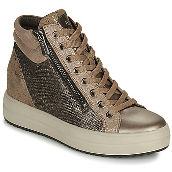 Shoes Women Hi top trainers IgI&CO DONNA SHIRLEY Beige / Gold