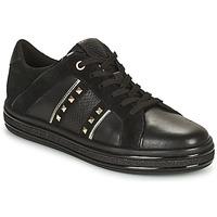Shoes Women Low top trainers Geox LEELU Black