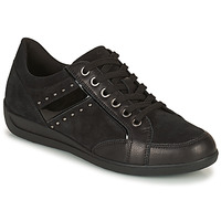 Shoes Women Low top trainers Geox MYRIA Black