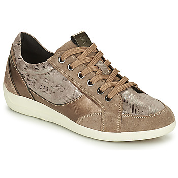 Shoes Women Low top trainers Geox MYRIA Gold
