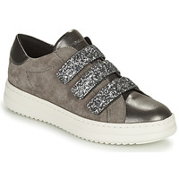 Shoes Women Low top trainers Geox PONTOISE Grey / Silver