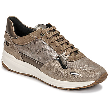 Shoes Women Low top trainers Geox AIRELL Gold