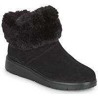 Shoes Women Mid boots Geox ARLARA Black