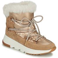 Shoes Women Snow boots Geox FALENA Beige / Gold