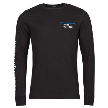 Clothing Men Long sleeved tee-shirts Diesel T-DIEGOS-LS-K25 Black