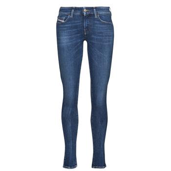 Clothing Women Skinny jeans Diesel SLANDY-LOW Blue / Dark