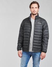 Clothing Men Duffel coats Columbia POWDER LITE JACKET Black