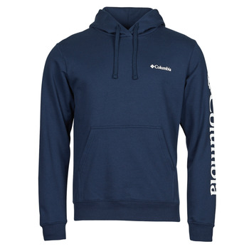 Clothing Men Sweaters Columbia VIEWMONT II SLEEVE GRAPHIC HOODIE Marine / White
