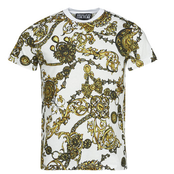 Clothing Men Short-sleeved t-shirts Versace Jeans Couture PRINT BIJOUX BAROQUE White / Printed / Baroque