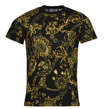 Clothing Men Short-sleeved t-shirts Versace Jeans Couture PRINT BIJOUX BAROQUE Black / Printed / Baroque
