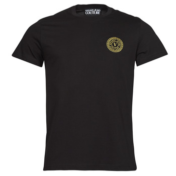 Clothing Men Short-sleeved t-shirts Versace Jeans Couture VEMBLEM S EMBRO GOLD Black / Gold