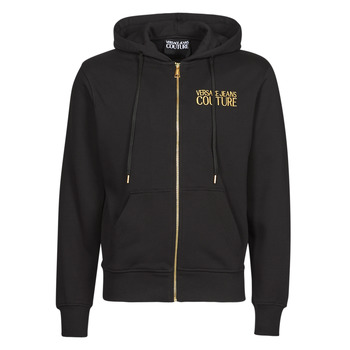 Clothing Men Sweaters Versace Jeans Couture LOGO EMBRO S SWEATSHIRTS Black / Gold
