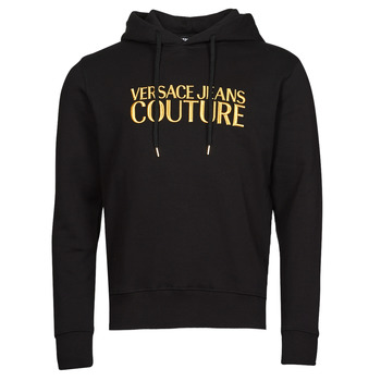 Clothing Men Sweaters Versace Jeans Couture LOGO EMBRO Black / Gold