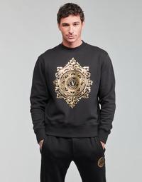 Clothing Men Sweaters Versace Jeans Couture VEMBLEM LEAF Black / Gold