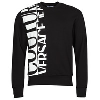 Clothing Men Sweaters Versace Jeans Couture LOGO STORY Black / White