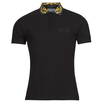 Clothing Men Short-sleeved polo shirts Versace Jeans Couture BAROQUE POLO T.SHIRT SS Black