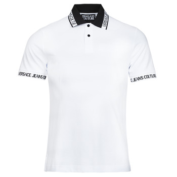 Clothing Men Short-sleeved polo shirts Versace Jeans Couture JACQUARD POLO T.SHIRT White