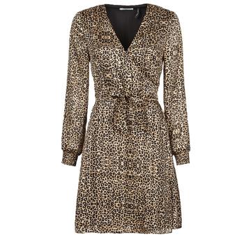 Clothing Women Short Dresses Les Petites Bombes CECILIE Leopard