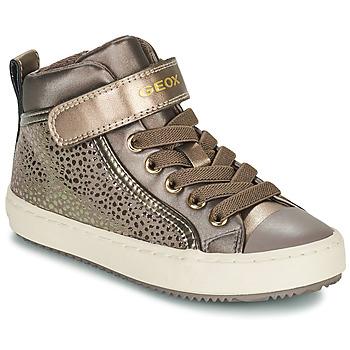 Shoes Girl Hi top trainers Geox KALISPERA Gold