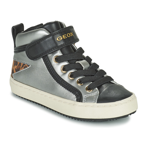 Shoes Girl Hi top trainers Geox KALISPERA Silver