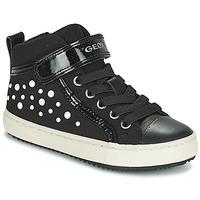 Shoes Girl Hi top trainers Geox KALISPERA Black