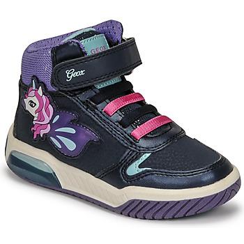Shoes Girl Hi top trainers Geox INEK Purple