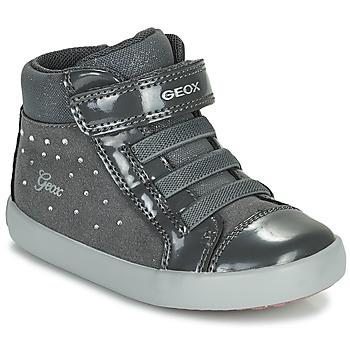 Shoes Girl Hi top trainers Geox GISLI Grey