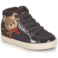 Shoes Girl Hi top trainers Geox KILWI Black