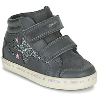 Shoes Girl Hi top trainers Geox KILWI Grey / Silver