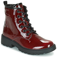 Shoes Girl Mid boots Geox CASEY Bordeaux
