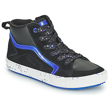 Shoes Boy Hi top trainers Geox ALONISSO Black / Marine