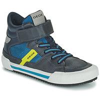 Shoes Boy Hi top trainers Geox ALONISSO Blue