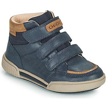 Shoes Boy Hi top trainers Geox POSEIDO Marine