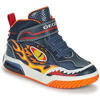 Shoes Boy Hi top trainers Geox INEK Marine / Red