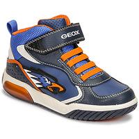 Shoes Boy Hi top trainers Geox INEK Blue / Orange