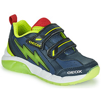 Shoes Boy Low top trainers Geox SPAZIALE Marine / Green